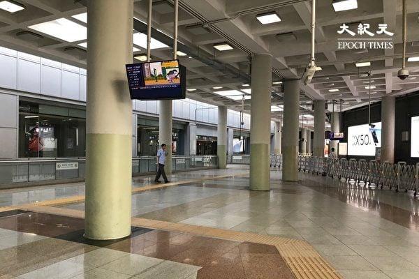 2020年6月16日,受到中共病毒疫情的影響,北京西直門交通樞紐晚高峰時幾乎無人。(大紀元)