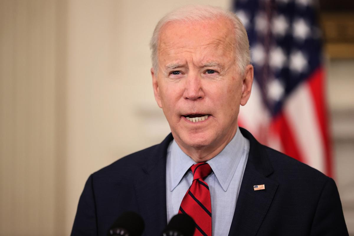 2021年3月23日,美國總統祖·拜登(Joe Biden)對此前一天發生在科羅拉多州博爾德市(Boulder)的大規模槍擊案發表講話。22日發生在King Soopers超市的槍擊案造成10人喪生。(Chip Somodevilla/Getty Images)