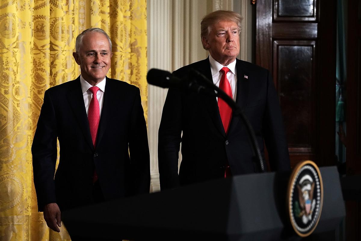 在特恩布爾作為澳洲總理的最後日子裏,他撥通了白宮的電話。他的政府剛剛做出一個決定:不允許中共插手澳洲第五代移動通信網絡的建設。(Alex Wong/Getty Images)