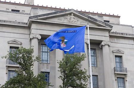 位於美國首都華盛頓的美國司法部。(李莎/大紀元)