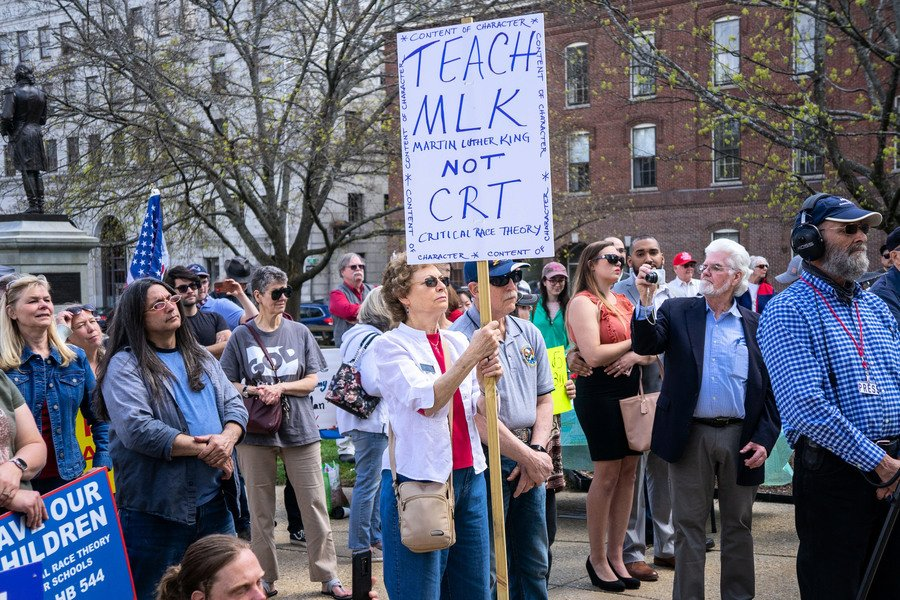 新罕布什爾州民眾集會 反對文革式「批判種族理論」