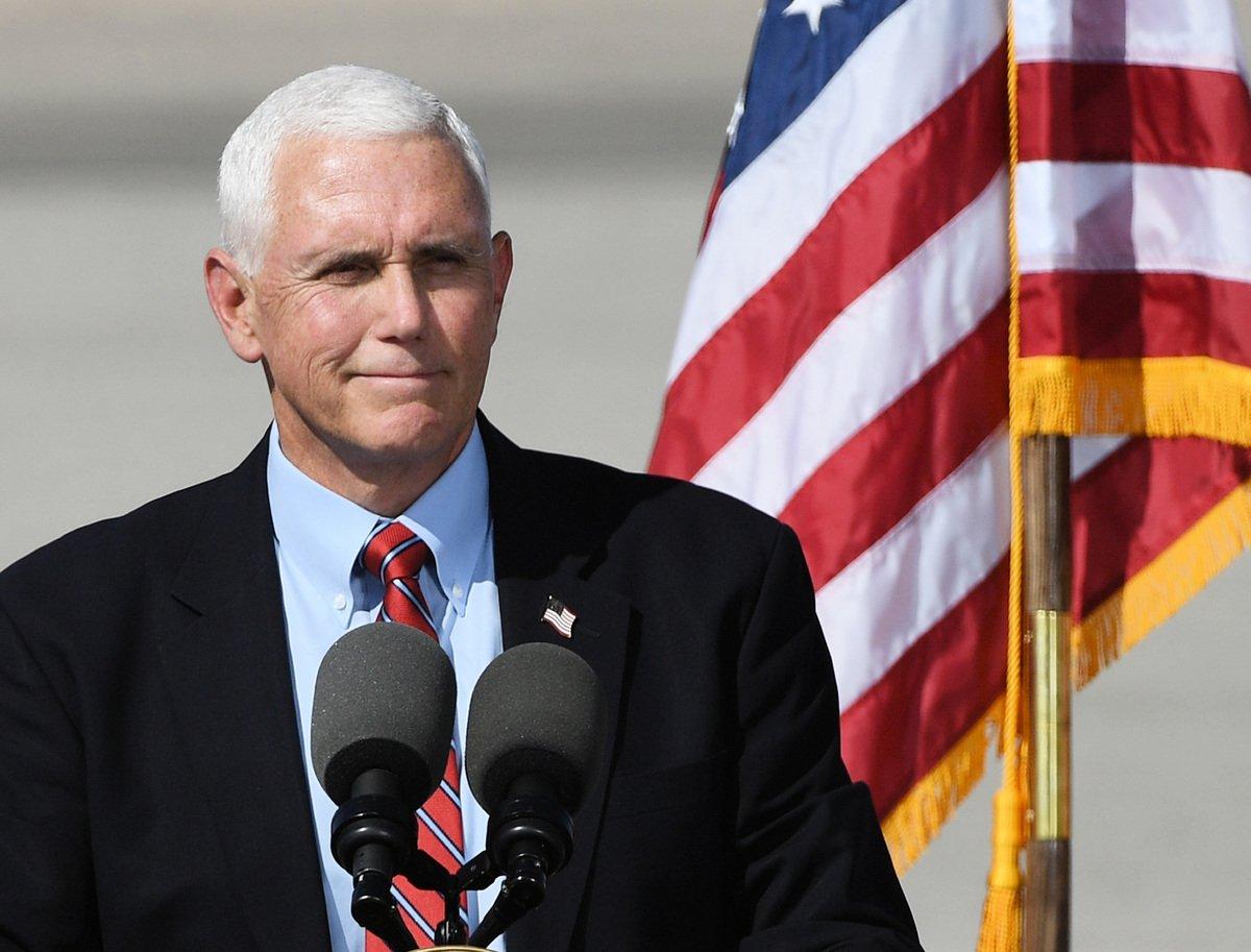 圖為美國前副總統邁克.彭斯(Mike Pence)。(Ethan Miller/Getty Images)