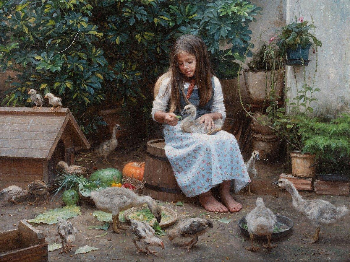 2019年11月,巴西畫家克洛多爾多·馬丁斯(Clodoaldo Martins)攜作品《米萊娜之愛》(Milena's Friends)入圍新唐人第五屆「全世界人物寫實油畫大賽」的決賽。作品售價12,000美元,布面油畫,鑲以木製框。36 x 24英吋。(Clodoaldo Martins)