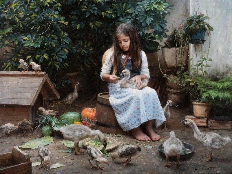 展細節之美 油畫《米萊娜之愛》入圍決賽