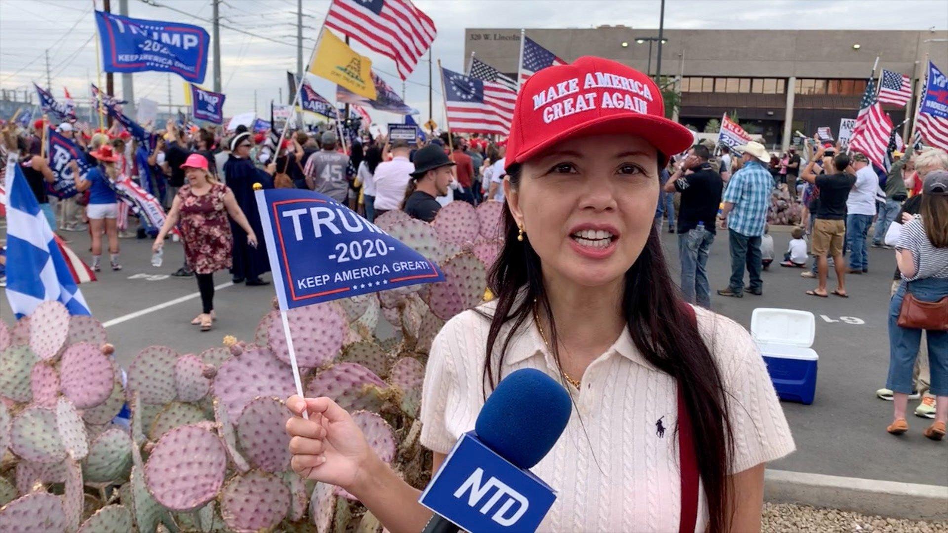 鳳凰城華裔選民張女士認為此次選舉弊案是沒有餘地的戰爭。(李子文/新唐人)