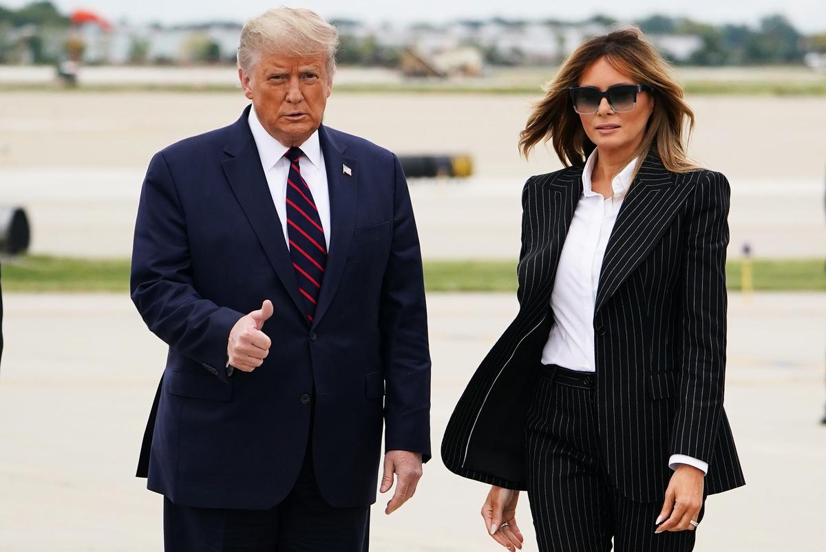 美國總統特朗普和第一夫人梅拉尼婭的病毒檢測呈現陽性,全球領導人送問候。(Photo by MANDEL NGAN / AFP)