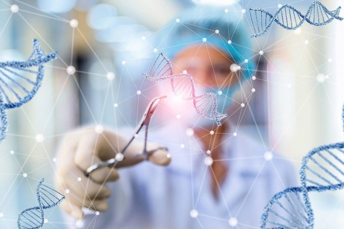 在中共病毒瘟疫大流行期間,全球最大的基因組公司華大基因(BGI Group)在全球推廣病毒測試裝置。路透社獨家報道,華大基因中共軍方合作,開展從呼吸道病原體大規模檢測到腦科學等方面的研究。基因編輯示意圖。(ShutterStock)