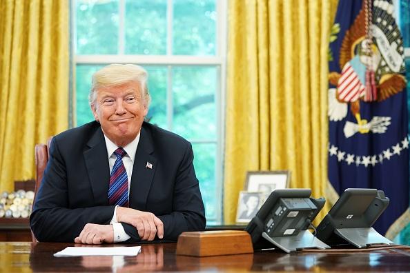 當特朗普總統宣佈跟墨西哥達成貿易協議、取代《北美自由貿易協議》(NAFTA)的時候,人們立刻將注意力轉向加拿大。但是也許此事影響最大的將是中共。(MANDEL NGAN/AFP/Getty Images)