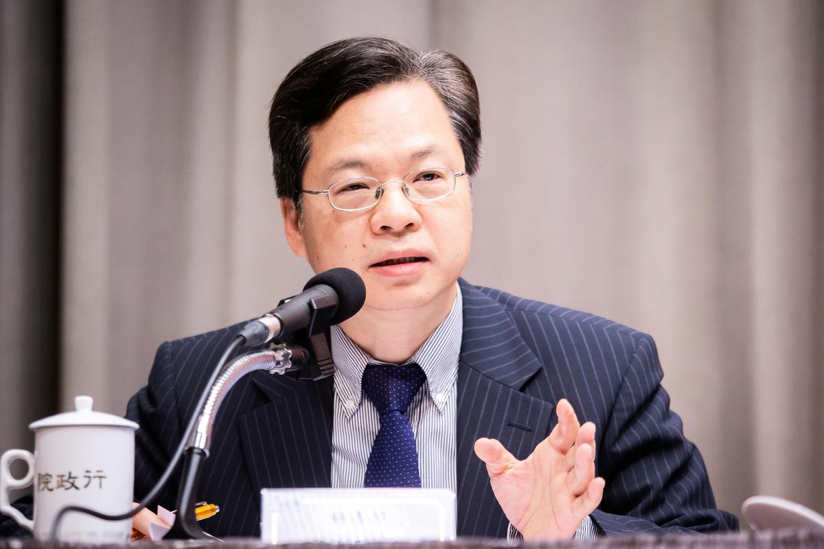 台灣行政院政務委員龔明鑫資料照。(陳柏州/大紀元)