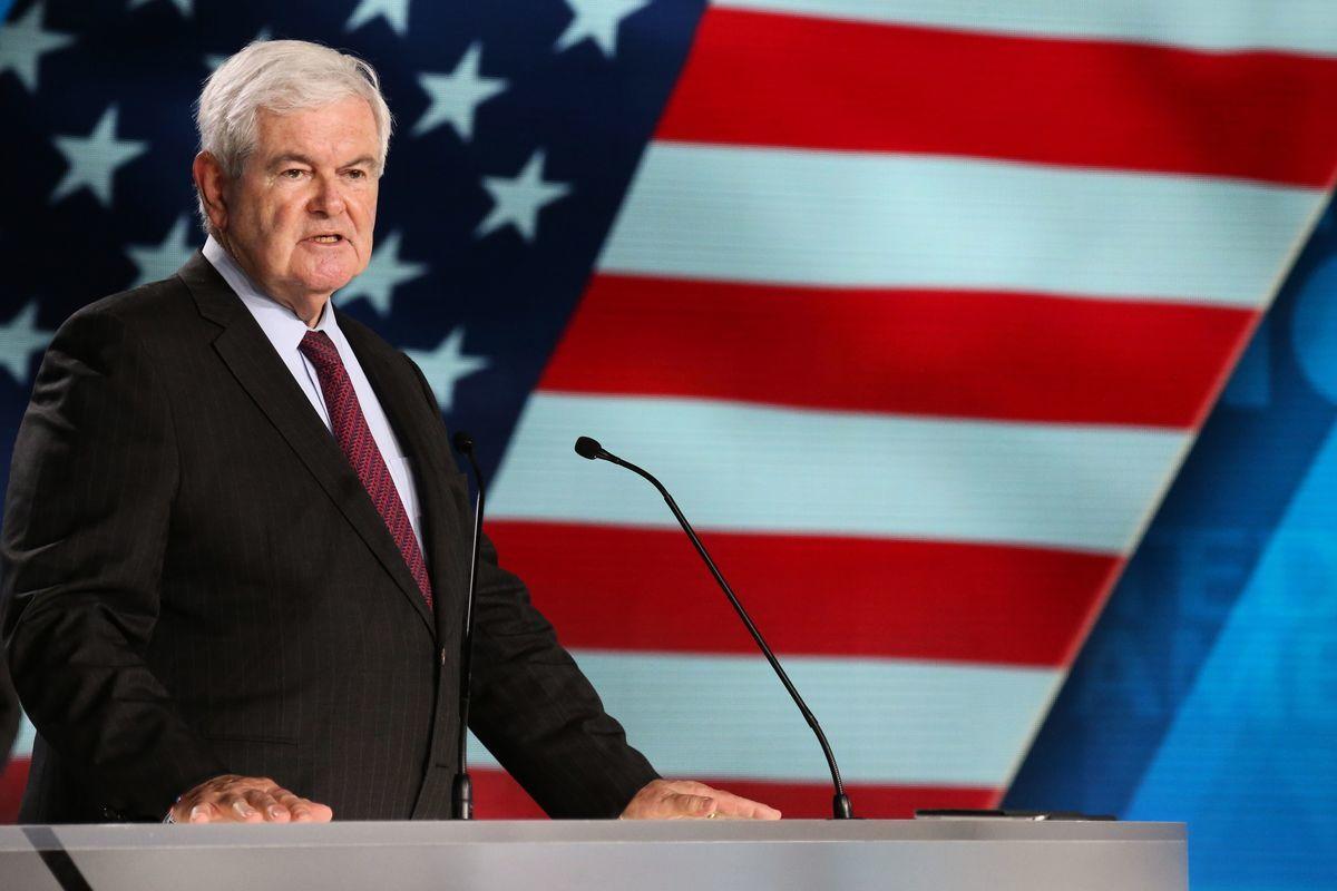 美國前眾議院議長紐特·金里奇(Newt Gingrich)2020年12月19日在Newsmax網站發表文章《我為美國深感擔憂,但絕不放棄》。圖為金里奇資料照。(ZAKARIA ABDELKAFI/AFP/Getty Images)