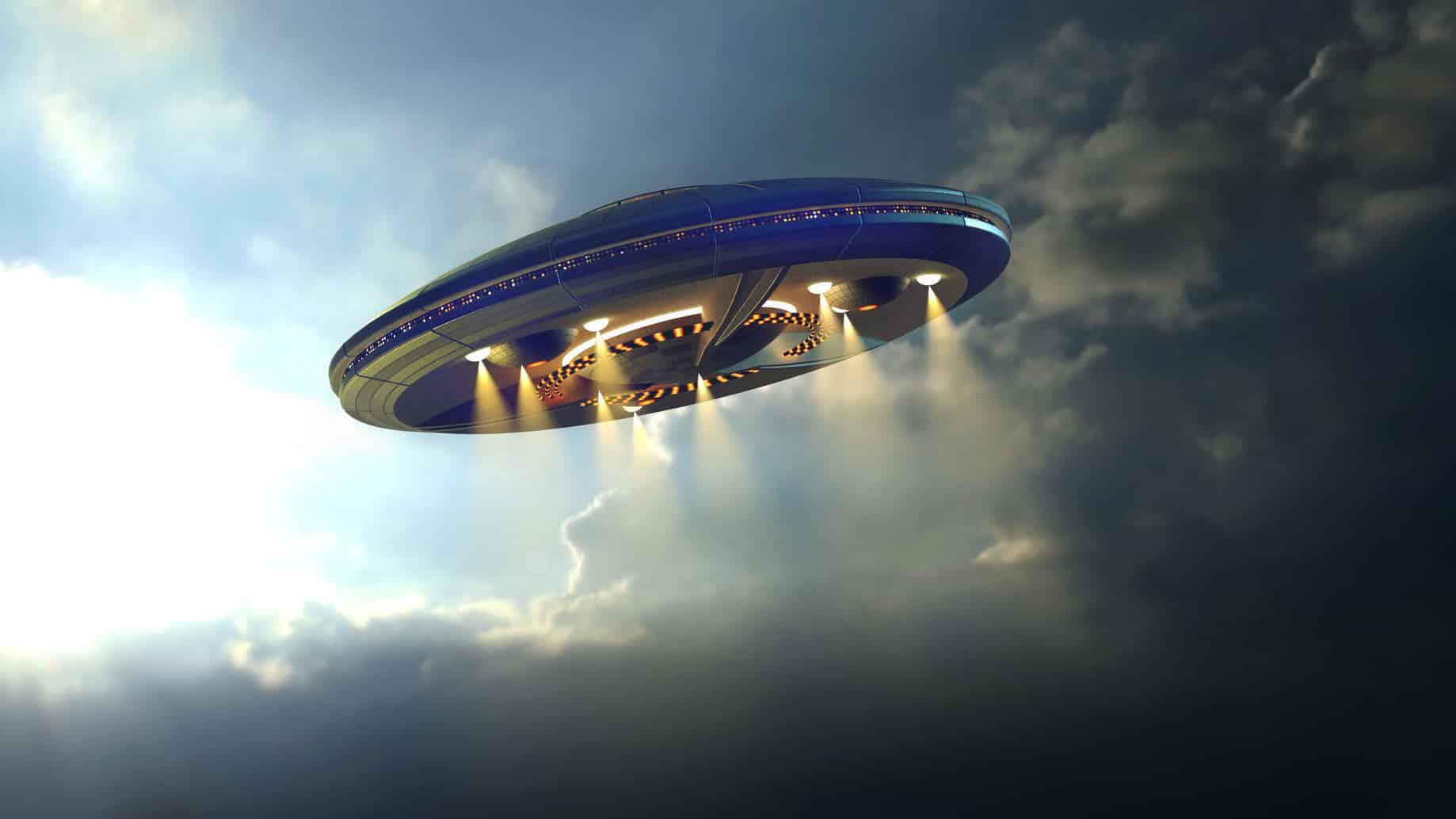 西澳警方日前公佈一段由監視器拍攝到的UFO畫面。此為UFO的示意圖。(Fotolia)