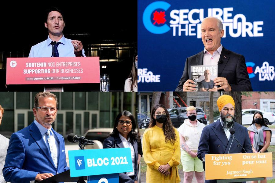加拿大2021大選 四黨競逐魁北克關鍵選區