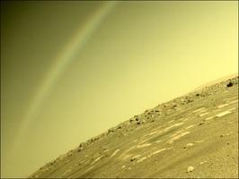 火星天上有「彩虹」?美太空總署解畫