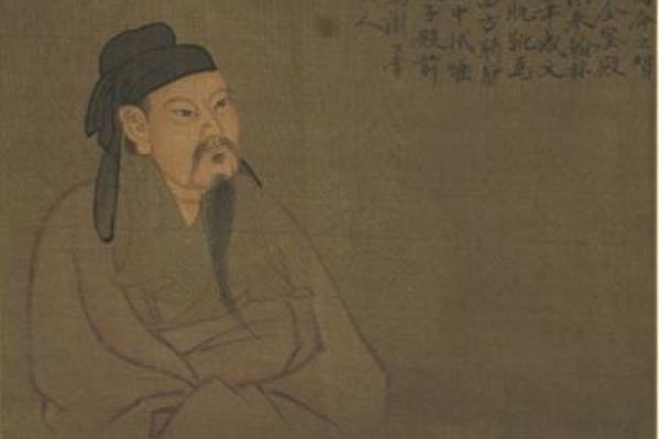 《歷代聖賢半身像.李白》,台北國立故宮博物院藏。(公有領域)