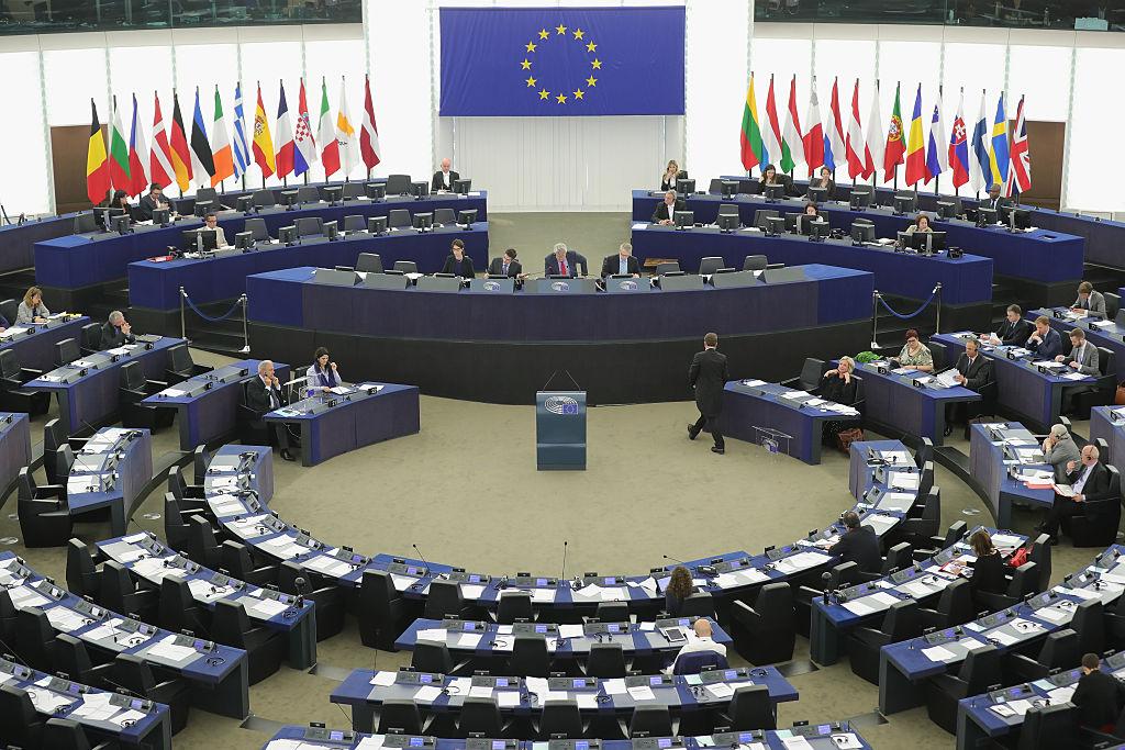 歐洲議會資料圖。(Christopher Furlong/Getty Images)