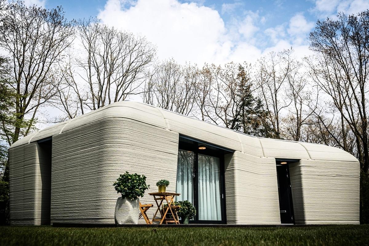 專家表示,這種建築最大的優勢之一是高效省時,整座房屋從無到有只須耗時5天。(ROB ENGELAAR/ANP/AFP via Getty Images)