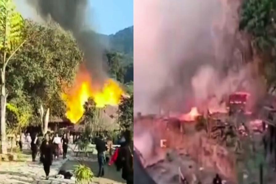 大年初三 中國大陸最後的原始部落村寨著火