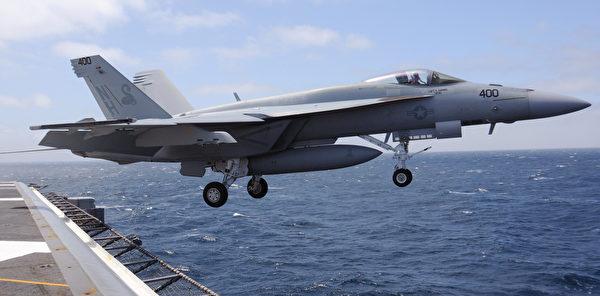 2012年5月25日,一架F/A-18超級大黃蜂從尼米茲號航空母艦(CVN 68)上起飛。(美國海軍)