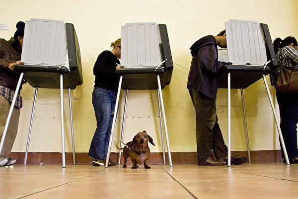 隨著周二首輪投票結束,焦慮的美國人等待著誰將在歷史上最激烈的大選中勝出的跡象——是民主黨候選人希拉莉將維持她的選前微小優勢,還是共和黨候選人特朗普將做出驚人的翻盤。(David Paul Morris/Getty Images)