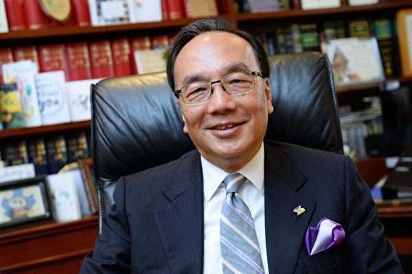 公民黨主席、資深大律師梁家傑接受了《大紀元》的採訪。(梁珍/大紀元)