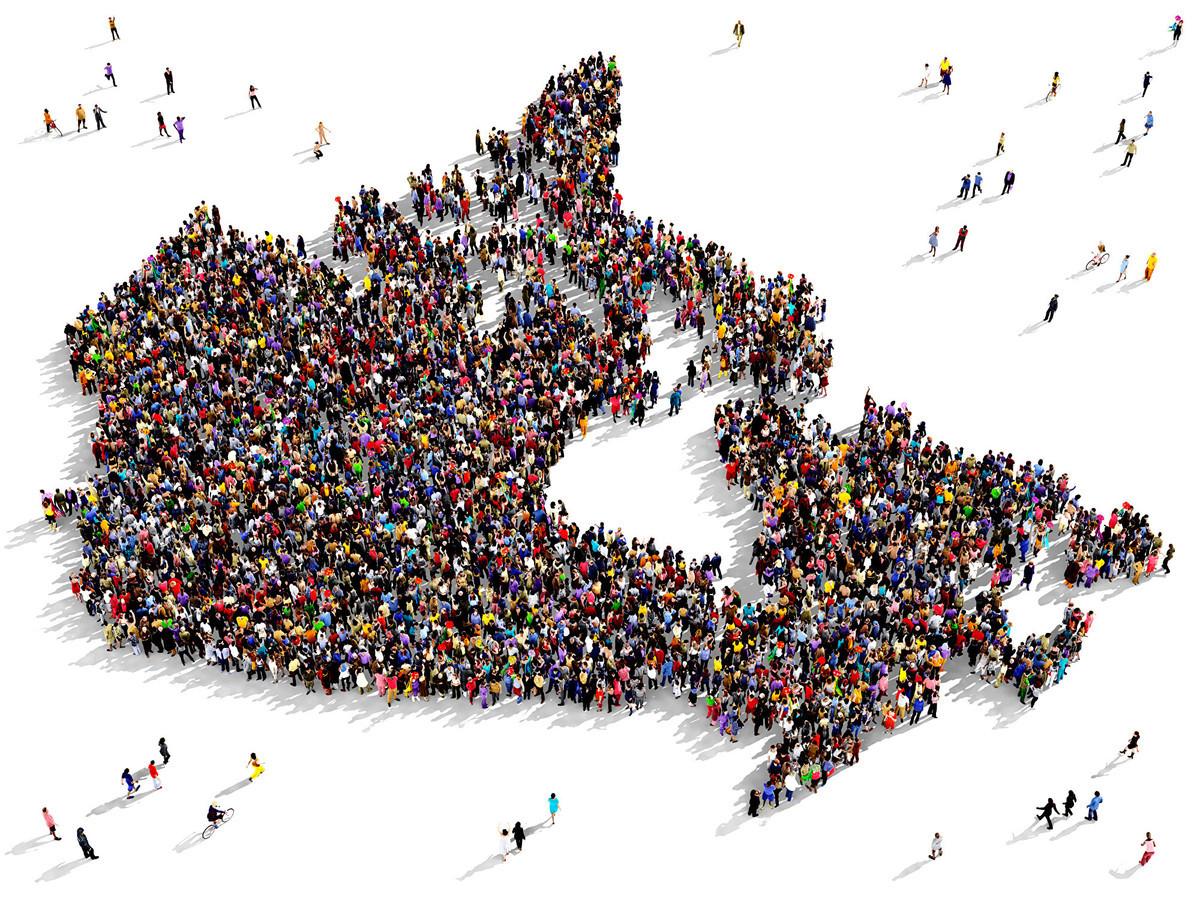 到2068年加拿大的人口將增加近一倍,其中大部份人口增長是持續移民的結果。(Shutterstock)