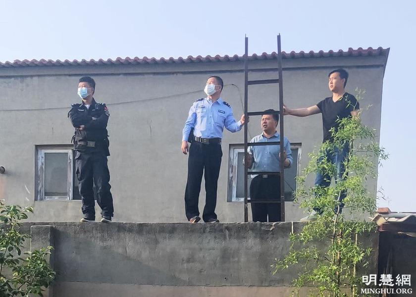 石家莊警察爬梯翻牆騷擾居民 被遏制