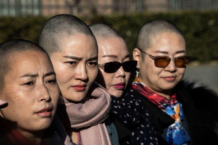 709家屬剃髮抗議:我可無髮 你不能無法