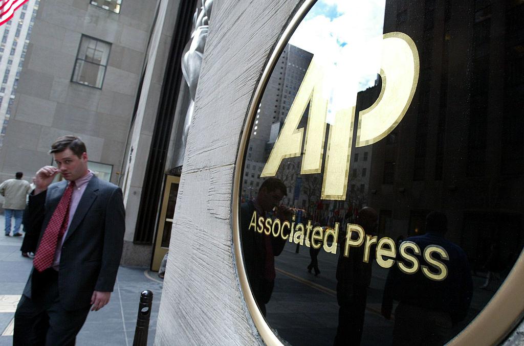 圖為美聯社在紐約的總部大樓。(Mario Tama/Getty Images)
