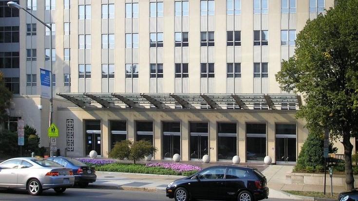 圖為華盛頓特區著名智囊布魯金斯學會(Brookings Institution)大樓外景。(維琪公有領域)