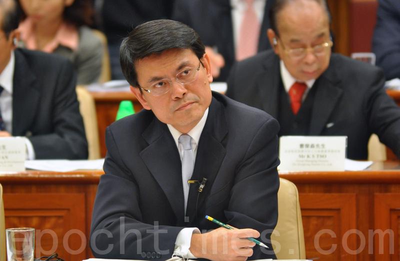 圖為香港商務及經濟發展局局長邱騰華。(鄺天明/大紀元)