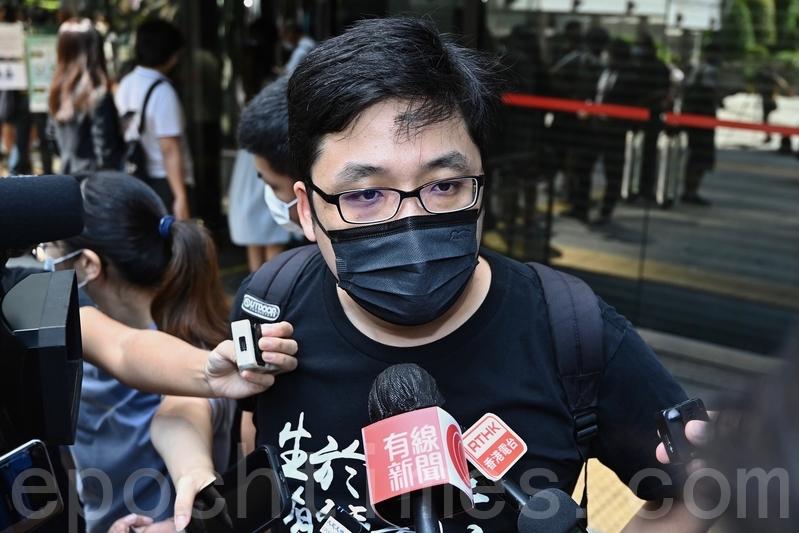 2021年9月15日,支聯會前常委趙恩來接受媒體採訪。(宋碧龍/大紀元)