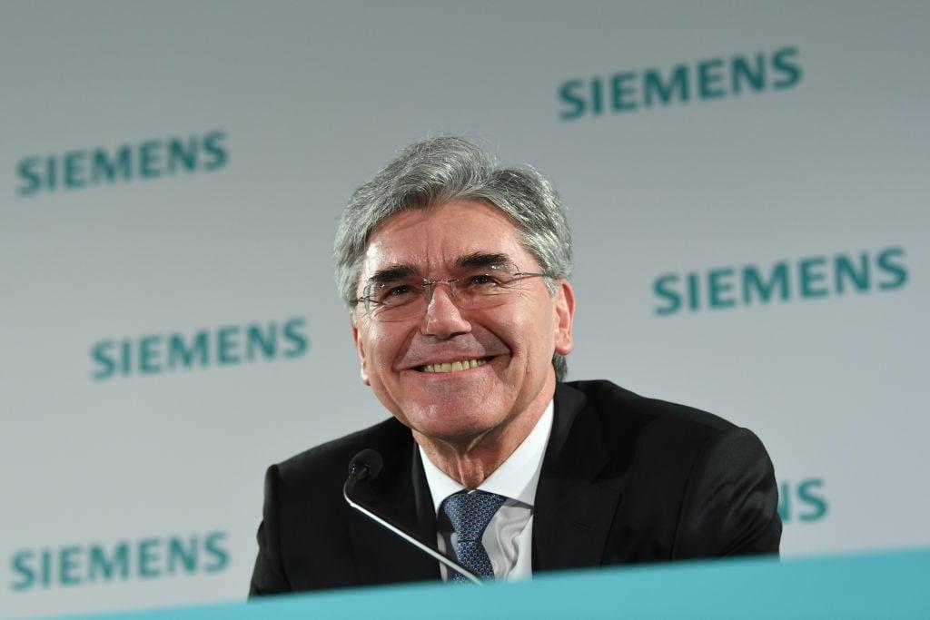 西門子總裁喬.凱颯(Joe Kaeser)2020年2月5日在慕尼黑。(Getty Images)