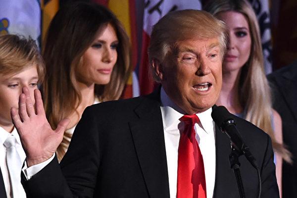 政治素人特朗普當選,帶給華人很多反思。(TIMOTHY A. CLARY/AFP/Getty Images)