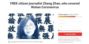 公民記者張展獄中絕食 海外發起聯署聲援