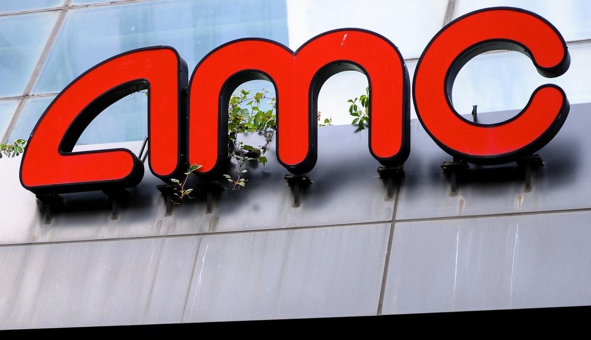 AMC公司標誌。(MANDEL NGAN/AFP via Getty Images)