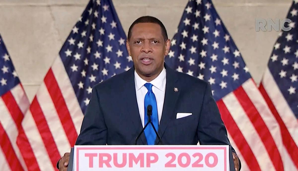 2020年8月24日,佐治亞州民主黨眾議員弗農·瓊斯(Vernon Jones)在共和黨全國大會(RNC)上發言。(Courtesy of the Committee on Arrangements for the 2020 Republican National Committee via Getty Images)