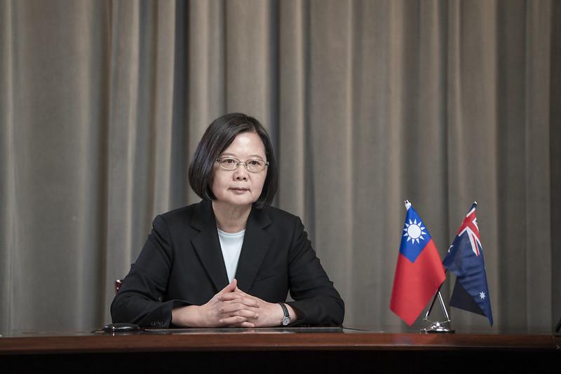 2020年8月27日,中華民國總統蔡英文受邀在「澳洲戰略研究所」的「ASPI印太領袖對話」發表視訊演講。(台灣總統府提供)