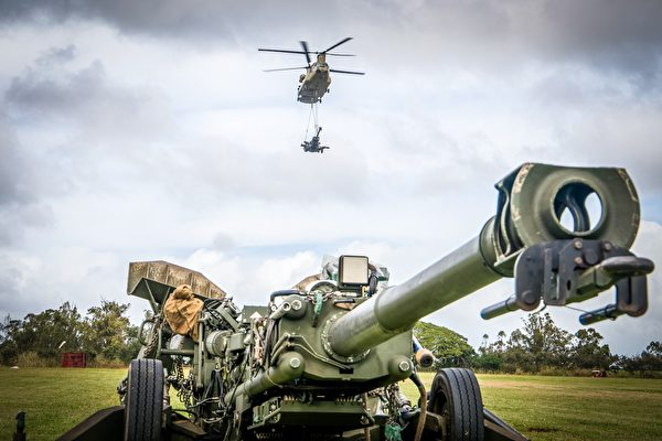 1月29日,美國印太司令部展示美國海軍陸戰隊在夏威夷的演習圖片。(美國印太司令部推特)