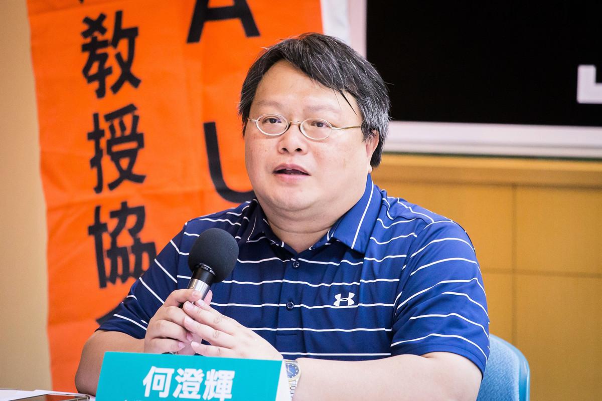 台灣戰略模擬學會研究員何澄輝表示,「中共並不希望台灣有很大的凝聚力,因此恐會通過代理人製造混亂,希望台灣出現防疫破口。」圖為何澄輝資料照。(陳柏州/大紀元)