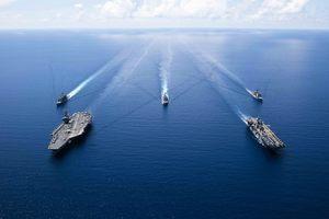 美雙航母再次在南海軍演 以保持戰備狀態