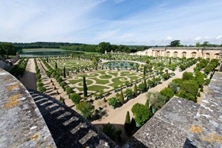 橘園的花壇。(Thomas Garnier/Chateau de Versailles,凡爾賽宮提供)