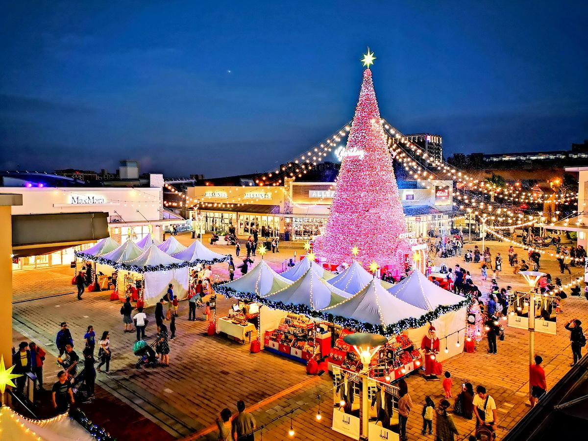 圖為台灣「桃園華泰名品城聖誕村」資料照。(華泰名品城提供)