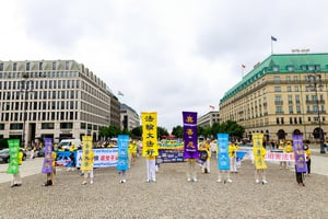 法輪功柏林集會遊行反迫害 各黨議員支持