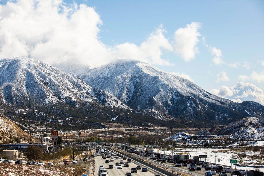 太皓湖 美國「優勝美地」迎來今年首場降雪