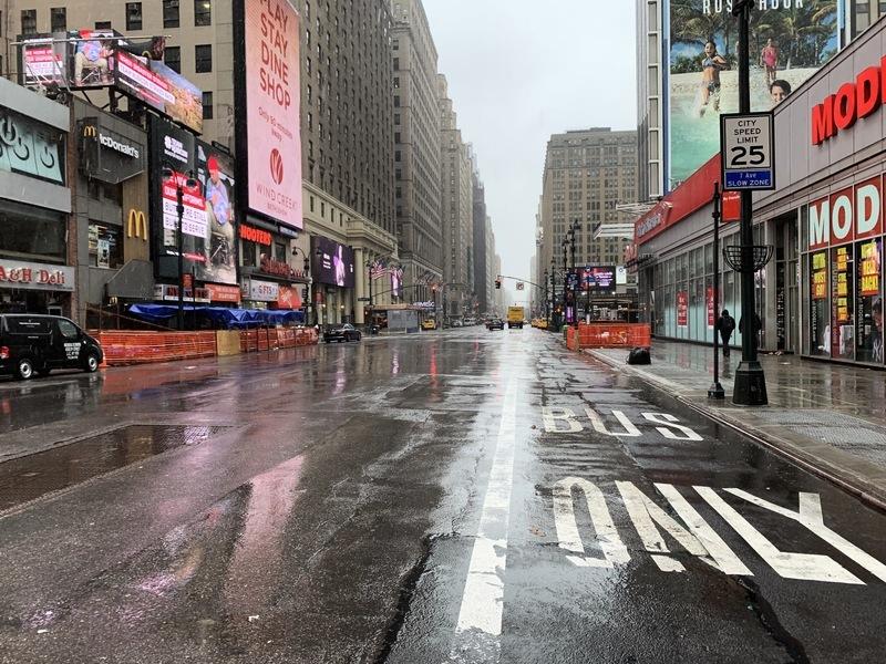 組圖:停工居家「躲疫」 紐約如空城