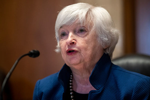 2021年6月23日,財政部長珍妮特‧耶倫(Janet Yellen)在華盛頓舉行的參議院撥款小組委員會(Senate Appropriations Subcommittee)聽證會上作證。(Shawn Thew-Pool/Getty Images)
