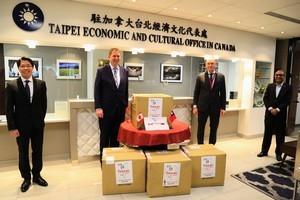 台灣捐贈50萬片口罩 加拿大政要表達感謝
