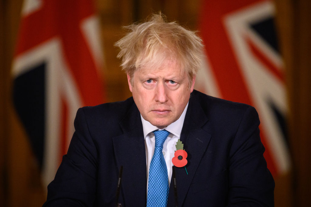 英國首相約翰遜。(Leon Neal - WPA Pool/Getty Images)