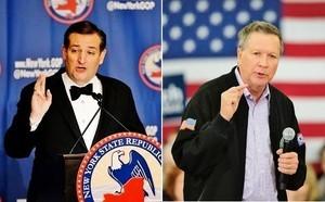 美共和黨候選人科魯茲、卡西奇聯手阻川普