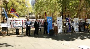 悉尼民眾「十一國殤日」集會 抗議中共暴政